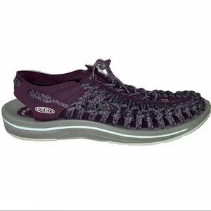 Keen Uneek Sandal Shoes Plum Shark Women's Size 10